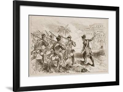 Clive Leading His Men Up to Conjeveram--Framed Giclee Print