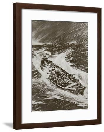 Torpedoed Collier's Crew Left to Drown--Framed Giclee Print