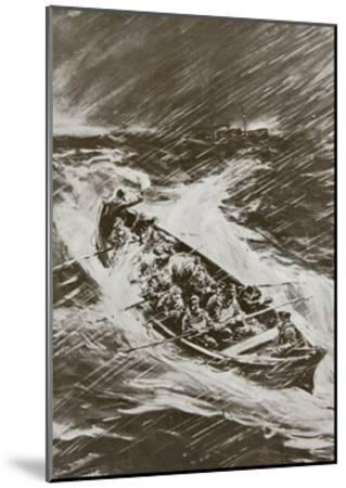 Torpedoed Collier's Crew Left to Drown--Mounted Giclee Print