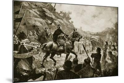 William the Conqueror's March into Wales in 1081--Mounted Giclee Print