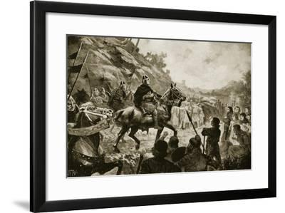 William the Conqueror's March into Wales in 1081--Framed Giclee Print