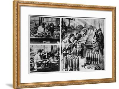 French Women's Share in the Making of Munitions--Framed Giclee Print