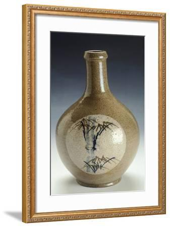 Straight Necked Sake Bottle with Straight Rim--Framed Giclee Print