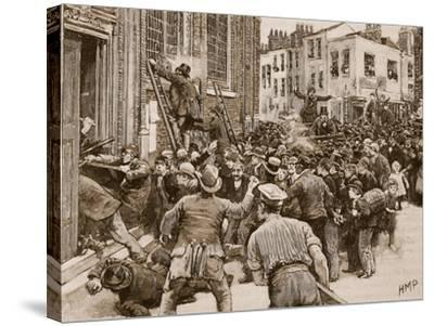 Scene in the Birmingham 'No Popery' Riots--Stretched Canvas Print