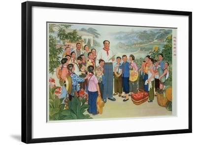 """""""Reporting Our Harvest to Chairman Mao""""--Framed Giclee Print"""