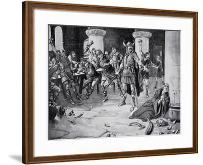The Martyrdom of Alphege on Palm Sunday--Framed Giclee Print
