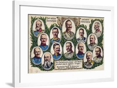 """""""May God Protect Germany and its Allies--Framed Giclee Print"""