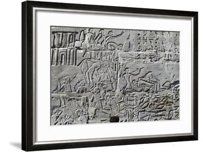 Detail from Relief of Battle of Kadesh--Framed Photographic Print