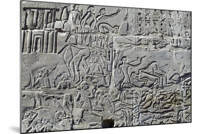 Detail from Relief of Battle of Kadesh--Mounted Photographic Print