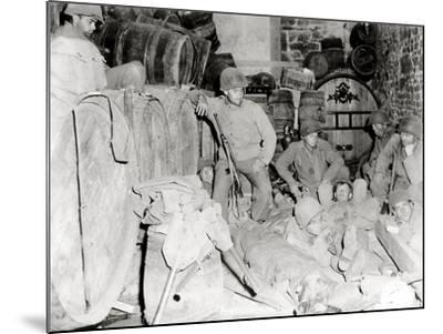 American Soldiers in a Basement with Barrels of Cider--Mounted Photographic Print