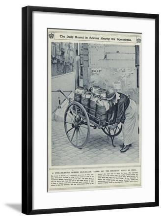 The Daily Round in Rheims Among the Bombshells--Framed Photographic Print