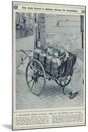The Daily Round in Rheims Among the Bombshells--Mounted Photographic Print