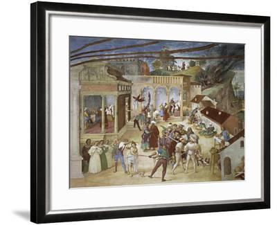 St Barbara Being Led Through Streets of City--Framed Giclee Print