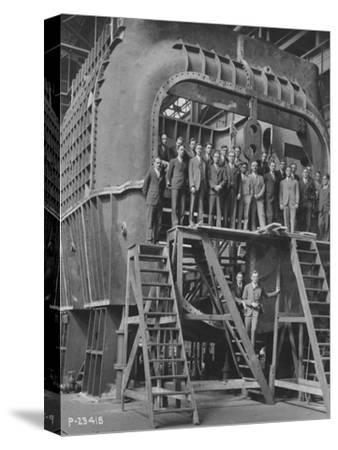 Students from Yale University on an 88--Stretched Canvas Print