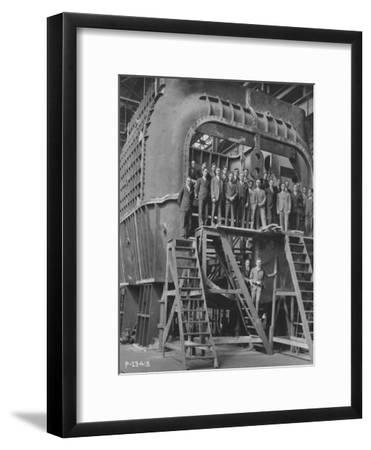 Students from Yale University on an 88--Framed Photographic Print
