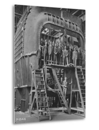 Students from Yale University on an 88--Metal Print