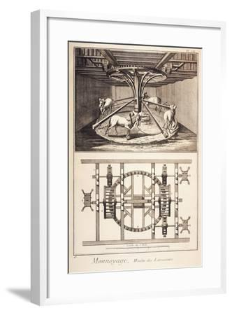 Plate Showing the Wheelwork of Rollers--Framed Giclee Print