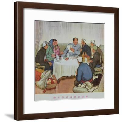 """The Hearts of Yenan Girls Turn Towards Chairman Mao""--Framed Giclee Print"