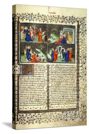 Miniature Illustrating the Judgement of the Mothers--Stretched Canvas Print