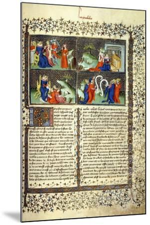Miniature Illustrating the Judgement of the Mothers--Mounted Giclee Print