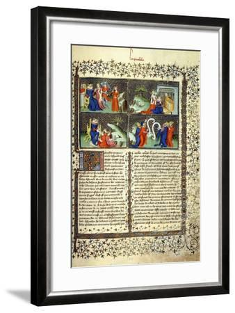 Miniature Illustrating the Judgement of the Mothers--Framed Giclee Print