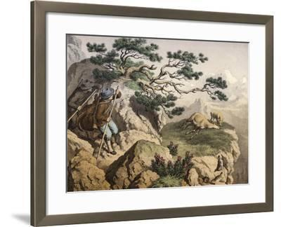 Chamois Hunters of the Alps--Framed Giclee Print