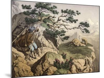 Chamois Hunters of the Alps--Mounted Giclee Print