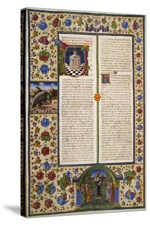 Incipit from First Book of Maccabees--Stretched Canvas Print