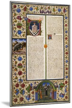 Incipit from First Book of Maccabees--Mounted Giclee Print