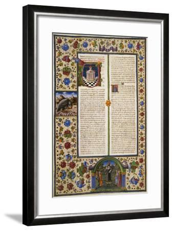 Incipit from First Book of Maccabees--Framed Giclee Print