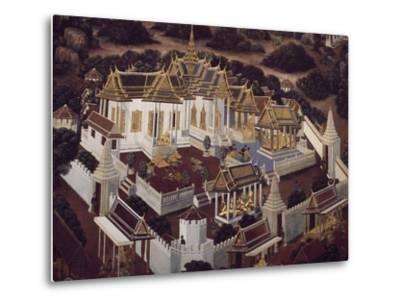Detail from Stories of Ramakien--Metal Print