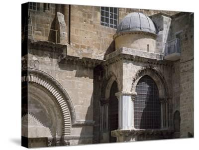 Exterior of Chapel of Crusaders--Stretched Canvas Print