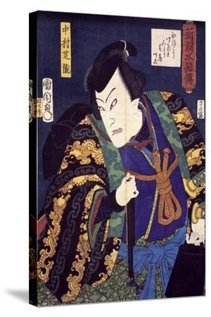 Ukiyo-E with Portrait of Actor--Stretched Canvas Print