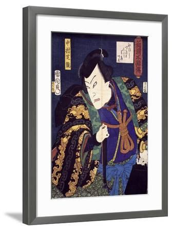 Ukiyo-E with Portrait of Actor--Framed Giclee Print