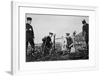With 'Spit' Held by Rifles--Framed Photographic Print
