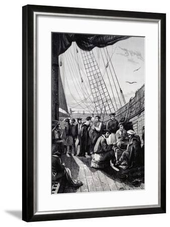 Crew of Corvette La Bonite--Framed Giclee Print