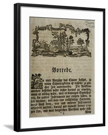 Introduction of Treaty on Harpsichord--Framed Giclee Print