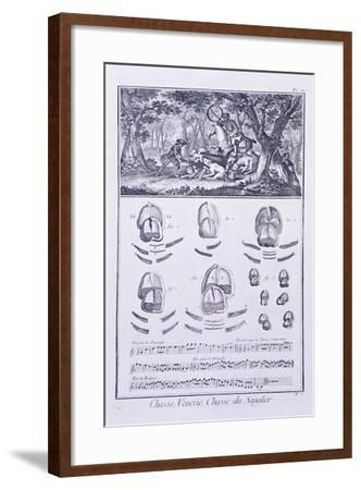 Plate Showing Wild Boar Hunting--Framed Giclee Print