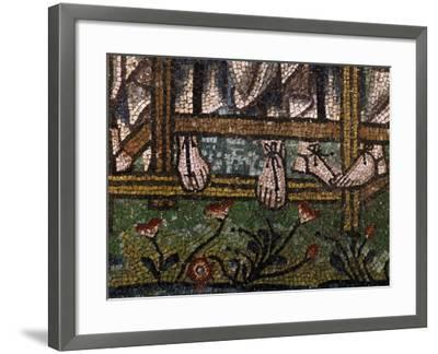 Sandaled Feet of Three Angels--Framed Photographic Print
