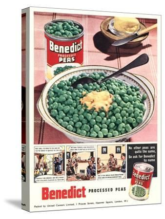 Advert for 'Benedict' Peas--Stretched Canvas Print