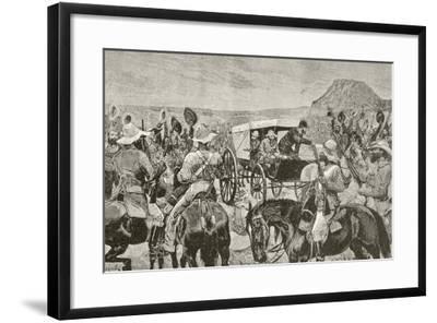 Sir Johannes Brand Announces Peace--Framed Giclee Print