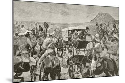 Sir Johannes Brand Announces Peace--Mounted Giclee Print