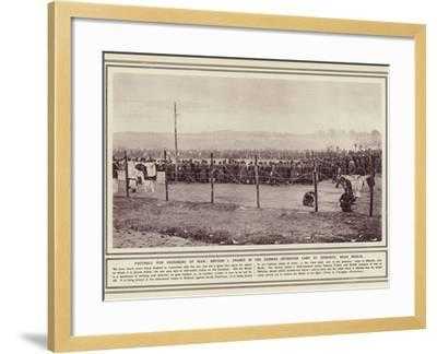 Football for Prisoners of War--Framed Photographic Print