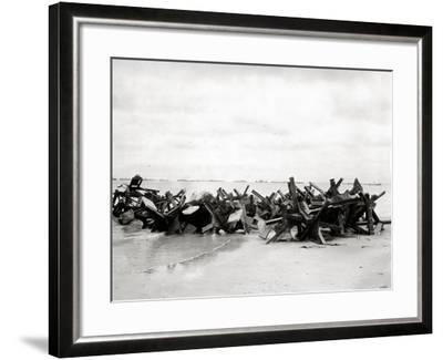 After Removal of Beach Obstacles--Framed Photographic Print