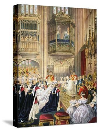 The Marriage at St George's Chapel--Stretched Canvas Print