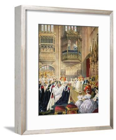 The Marriage at St George's Chapel--Framed Giclee Print
