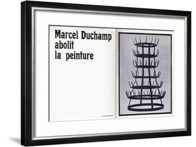 Marcel Duchamp Abolit La Peinture'--Framed Giclee Print