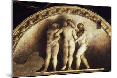 Lunette with the Three Graces--Mounted Giclee Print