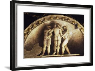 Lunette with the Three Graces--Framed Giclee Print