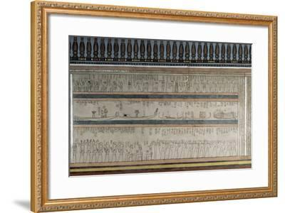 Text and Figures from Book of Amduat--Framed Photographic Print